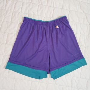Vintage 90's Champion Dual Layer Reversible Shorts